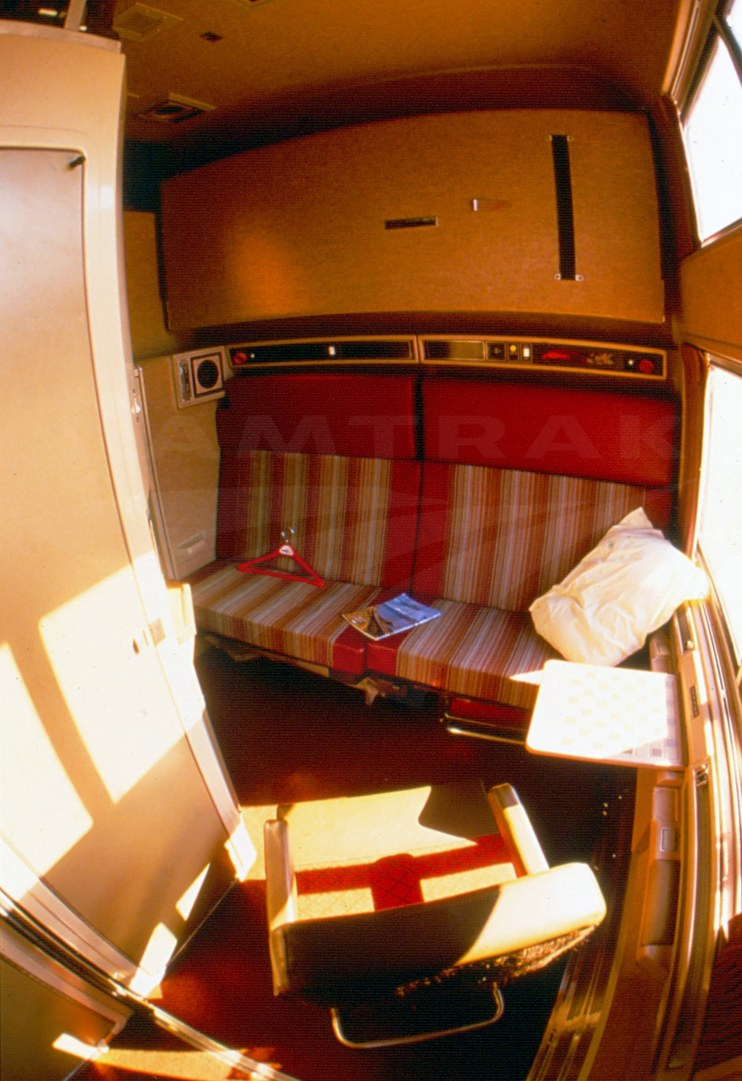 Prototype Viewliner Bedroom, 1980s.