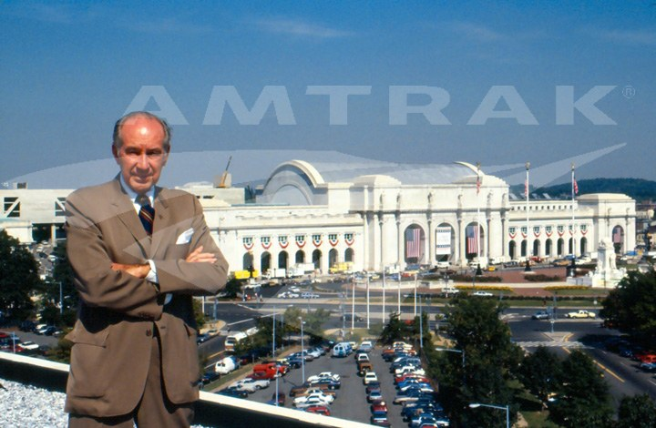 W. Graham Claytor, Jr. in front of Union Station