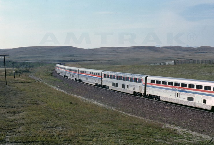 Western long-distance train, 1987.