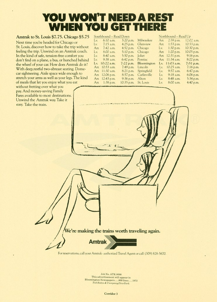 """""""You Won't Need a Rest"""" advertisement, 1972."""
