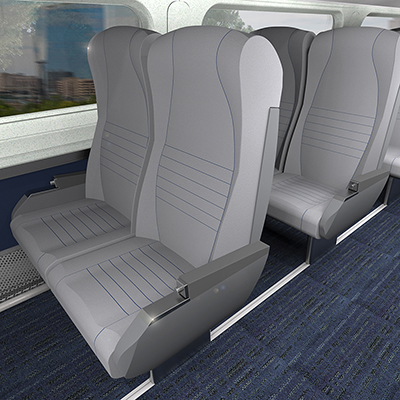 Rendering of Amfleet coach class - 2017 refresh.