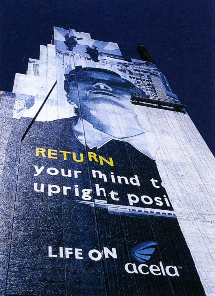 Acela Express advertisement, 1999.