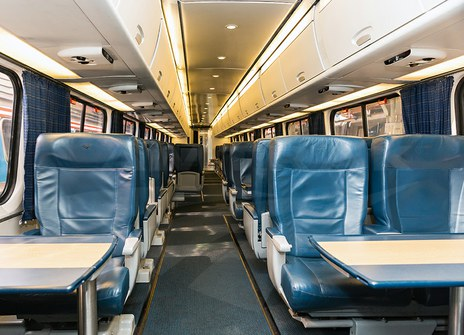 Interior of an Acela Express First Class Car, 2014