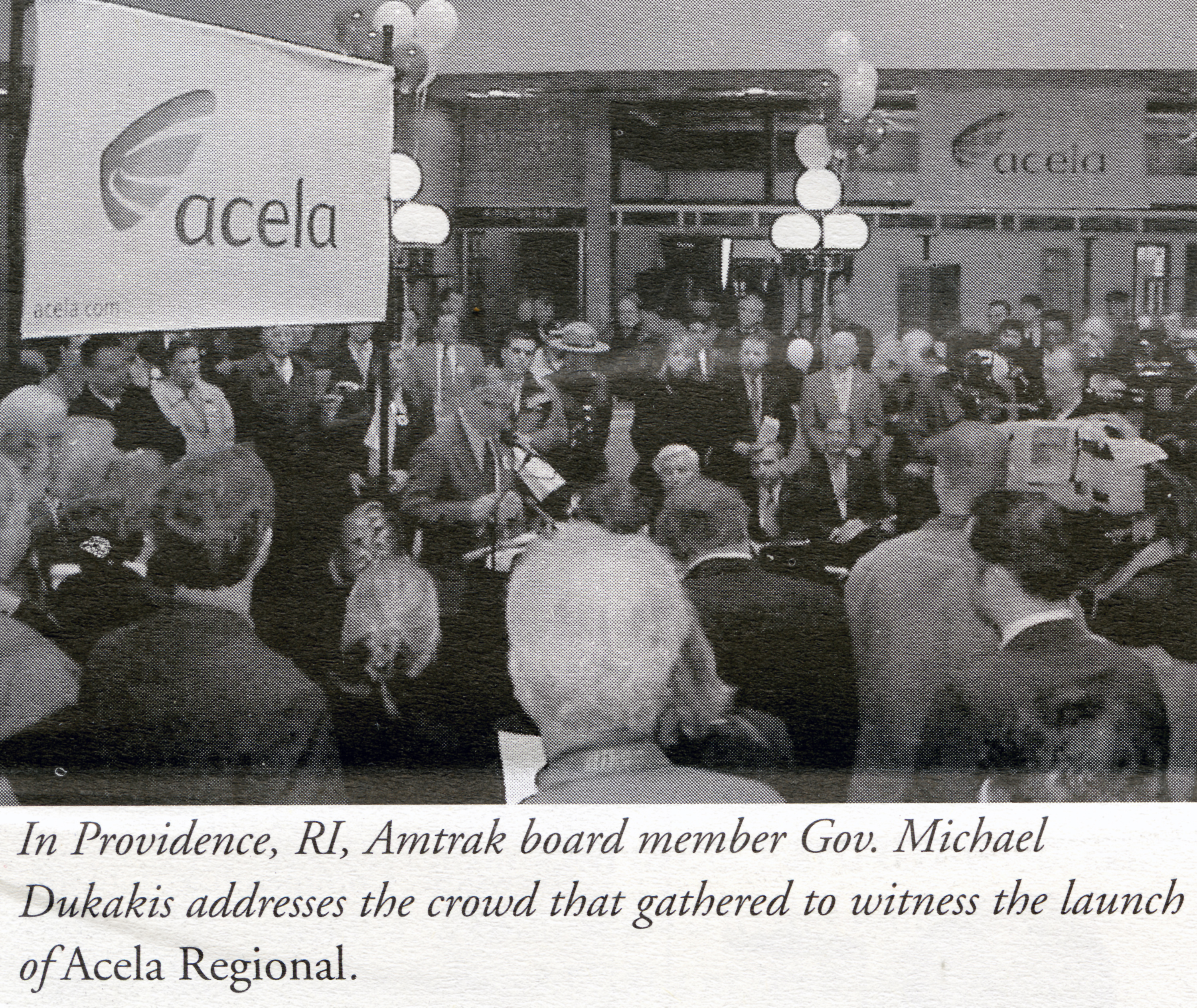 Ceremony to celebrate the start of Acela Regional service - Jan 31, 2000
