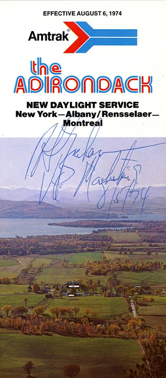Adirondack brochure cover, 1974.