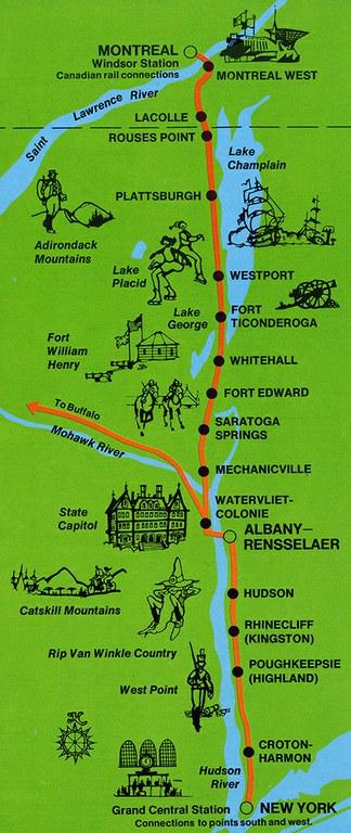 Adirondack route map, 1974.