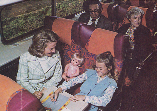 Early Amfleet Interior, late 1970s.