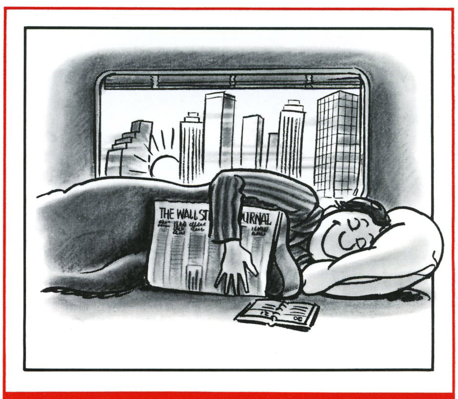 Executive Sleeper Service cartoon, 1985