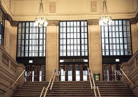 Stair case at Chicago Union Station