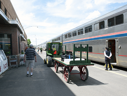 The Empire Builder stops in Havre, Mont., 2013. Photo: Joe Rago.