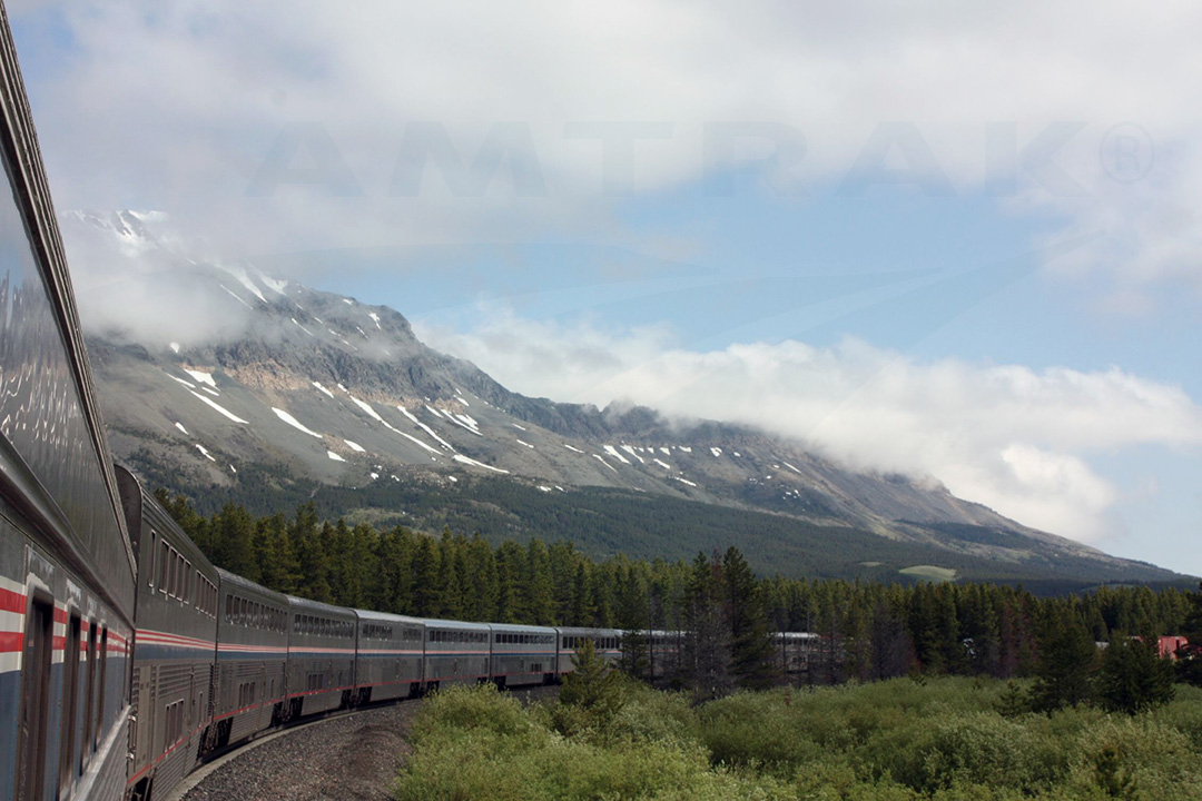 Empire Builder through Glacier Park