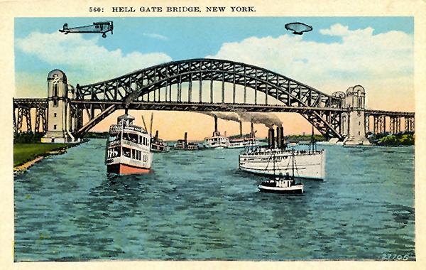 Hell Gate Bridge postcard