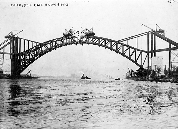 Hell Gate Bridge spans
