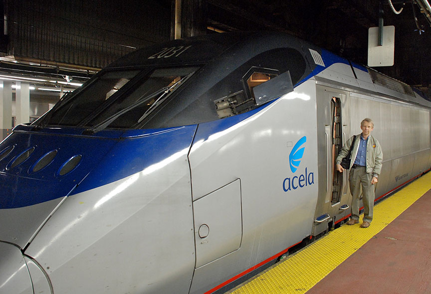 Ingwar Afeldt with Acela Express