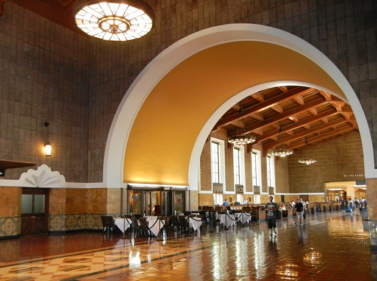 Los Angeles Union Station interior, c. 2012.