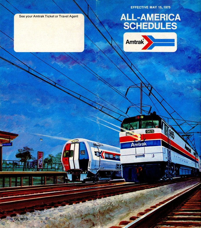 Amtrak Timetable Cover, May 15, 1975