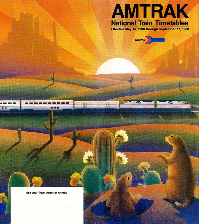 Amtrak Timetable Cover, May 15, 1988