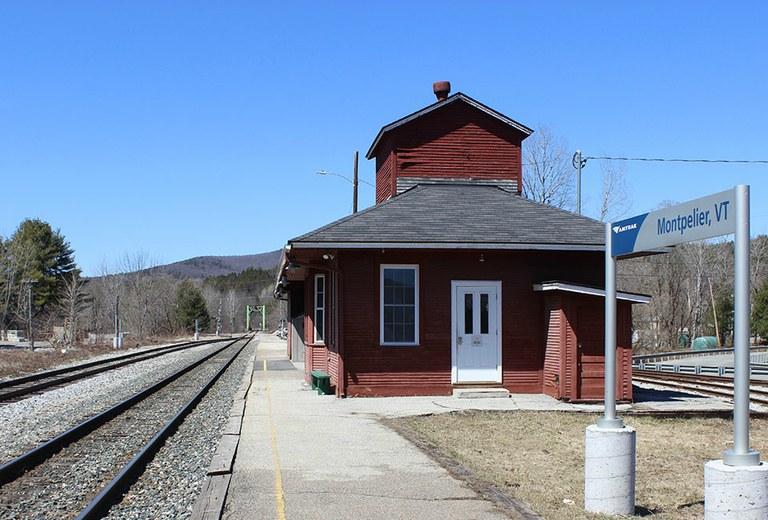 Montpelier, Vt. depot with platform