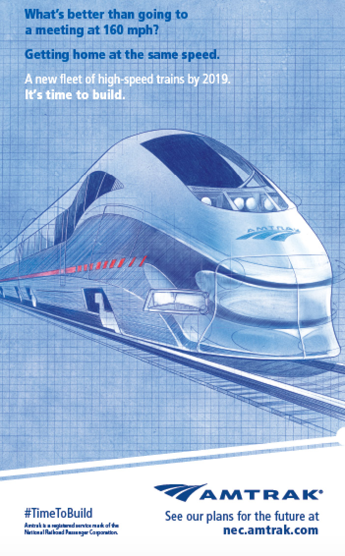 Time to Build Campaign poster featuring Next Generation High Speed Trainsets