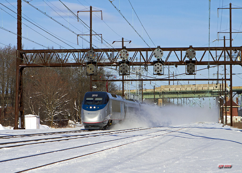 Acela Express 2168 at Bristol, Pa.
