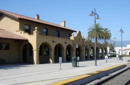 Santa Barbara depot as viewed from the tracks, 2006