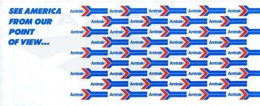Ticket Jacket with Amtrak logo, 1982.