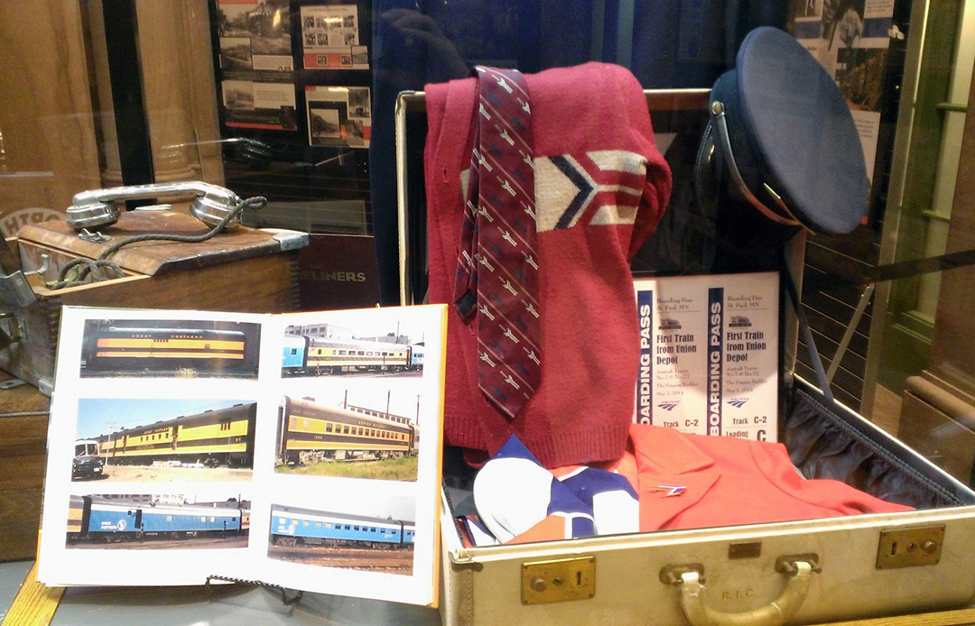Vintage Amtrak uniforms.