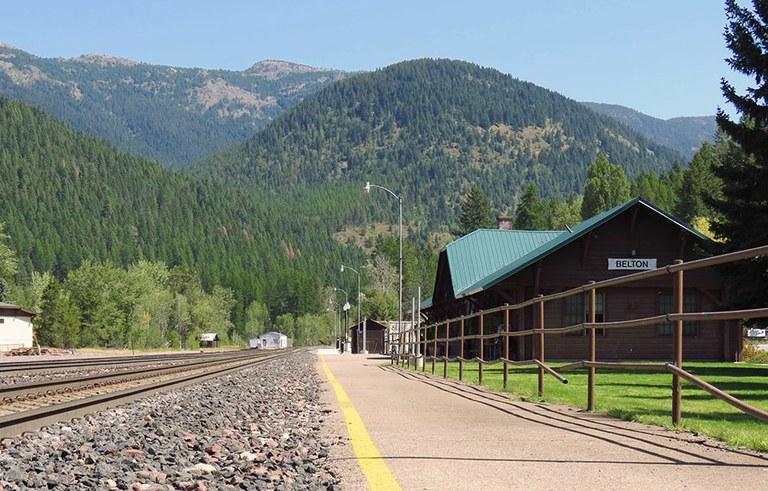 West Glacier, Mont., depot.