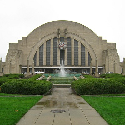 Cincinnati Union Terminal from the front.