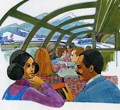Dome Coach drawing 1970s