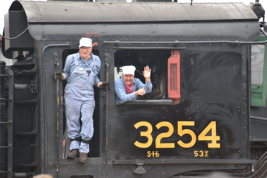 Amtrak and Steamtown Engineers