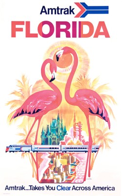 Amtrak Florida poster