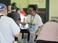 Long-time Amtrak employee Charlotte Berry assisted many visitors in Tampa