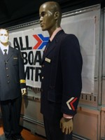 One of several uniform displays on board