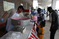 Cotton candy spun out for the kids at the Hialeah facility's Employee Appreciation Day