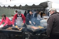 Family Day for Amtrak employees featured a delicious cookout