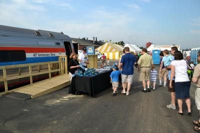 Exhibit Train as Festival Booth