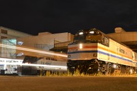 Exhibit Train by night in Milwaukee
