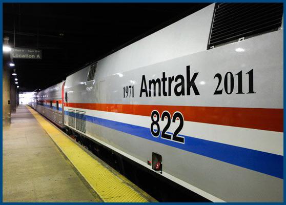 Exhibit Train on the Platform at Washington Union Station