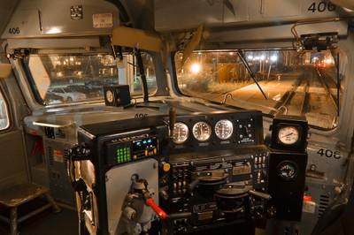Inside the locomotive