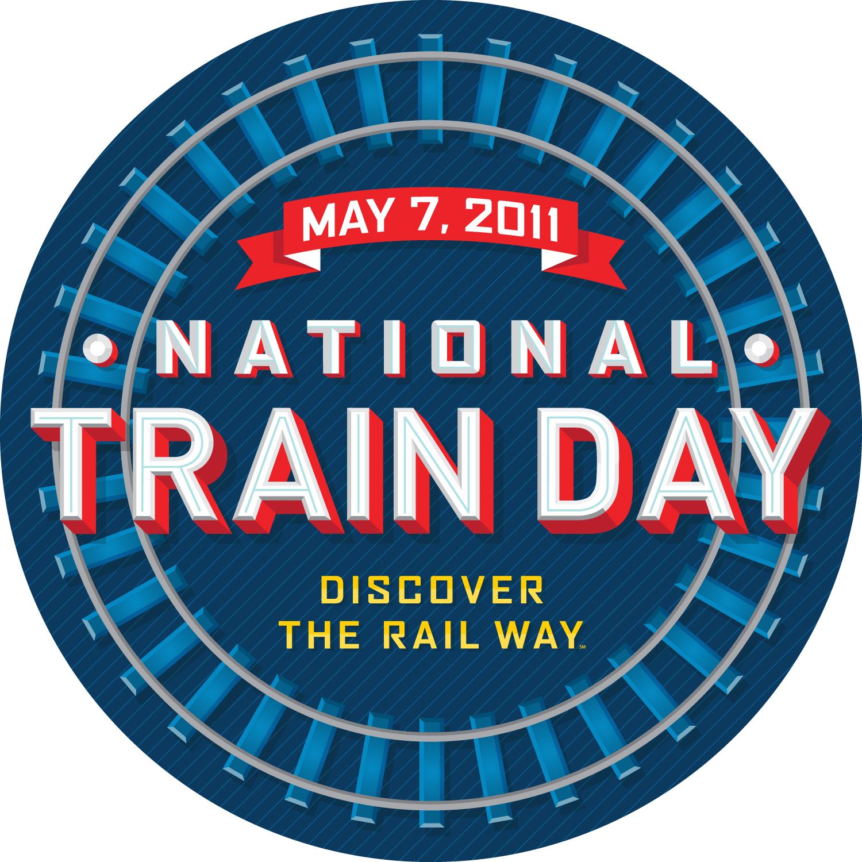 National Train Day Logo - Large