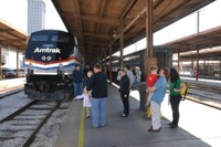 Family affair in New Orleans, Exhibit Train platform