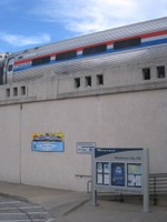 Exhibit Train on the viaduct at Oklahoma City