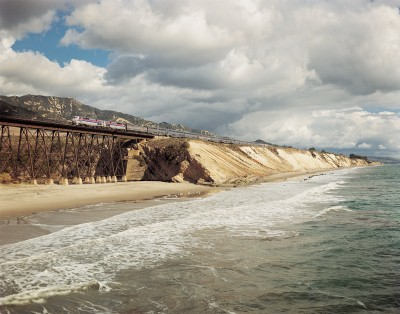 Pacific Surfliner near Goleta, Calif.