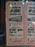 Superliner baggage tags on display
