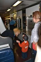 A small visitor tours the Superliner