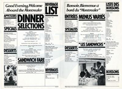 Montrealer menu for blog