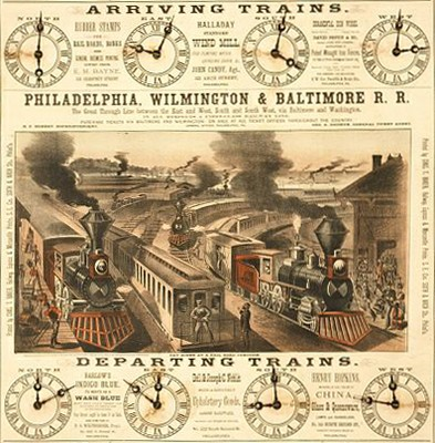 PW&B Company advertisement, 1879. Illustration by Charles T. Baker, courtesy of the Library of Congress.